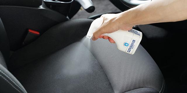 車内のお手入れテクニック -布シートのシミ・気になるニオイを防ぐ!-